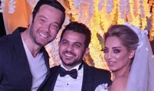 أول صور من حفل الزفاف المفاجئ للفنان #محمد_رشاد والإعلامية #مي_حلمي