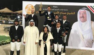 الفارسان الخرافي والإدريس يتوجان بمنافسات اليوم الأول لبطولة سمو الأمير لقفز الحواجز