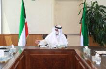 الوزير فهد العفاسي اجتمع بقياديين العدل للاطلاع على خطة الوزارة للعودة التدريجية للحياة الطبيعية