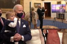 من هو الرضيع الذي سرق الأضواء من الرئيس الأميركي؟
