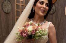زارا البلوشي بفستان زفاف رائع قبل الحفل وهذه تفاصيل إطلالتها الكاملة
