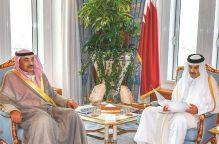 مبعوث الأمير سلّم رسالة خطية من سموه إلى أمير قطر