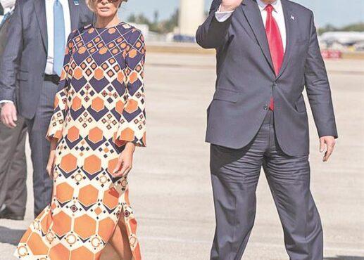 ميلانيا تدهش فلوريدا بفستان «سداسيات الطلاق»