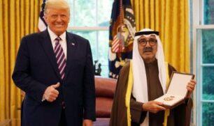 الشيخ ناصر الصباح يتسلم وسام الاستحقاق العسكري الأميركي نيابة عن سمو الأمير