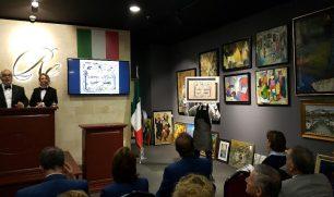 فنان كويتى يعرض لوحته للبيع فى مزاد ويتبرع باموالها لاعمال خيرية بايطاليا