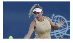 إصابة لاعبة التنس الأمريكية أنيسيموفا بكورونا
